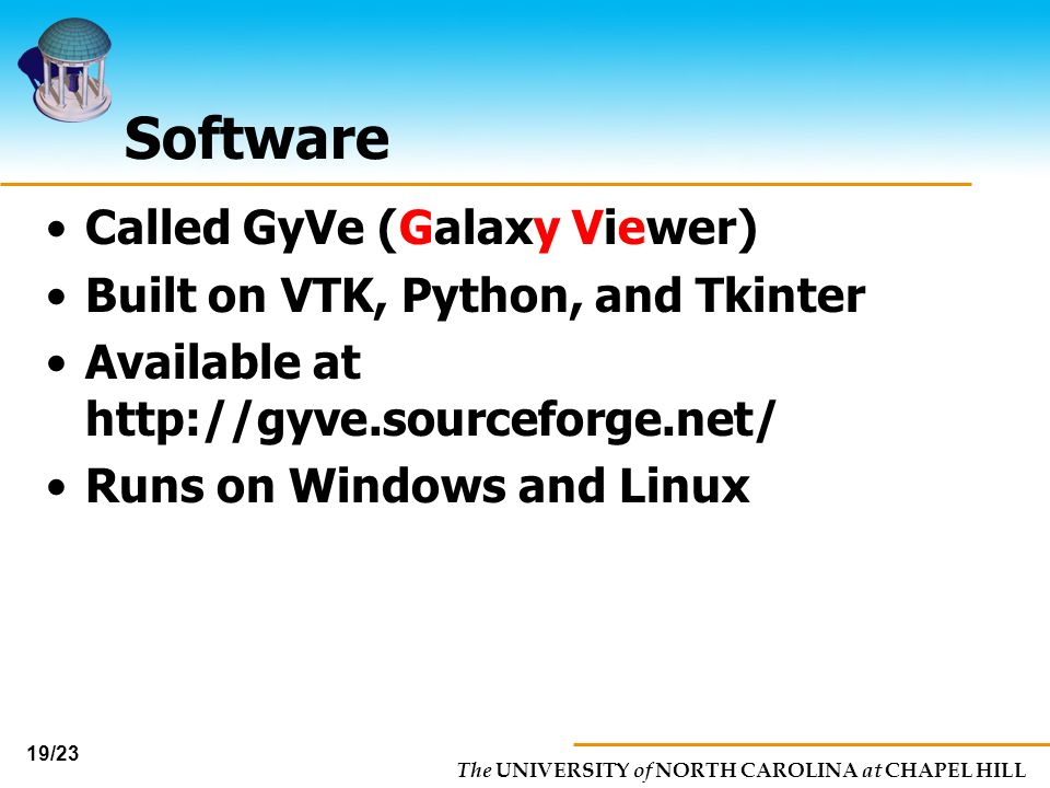 Software Called GyVe (Galaxy Viewer) Built on VTK, Python, and Tkinter
