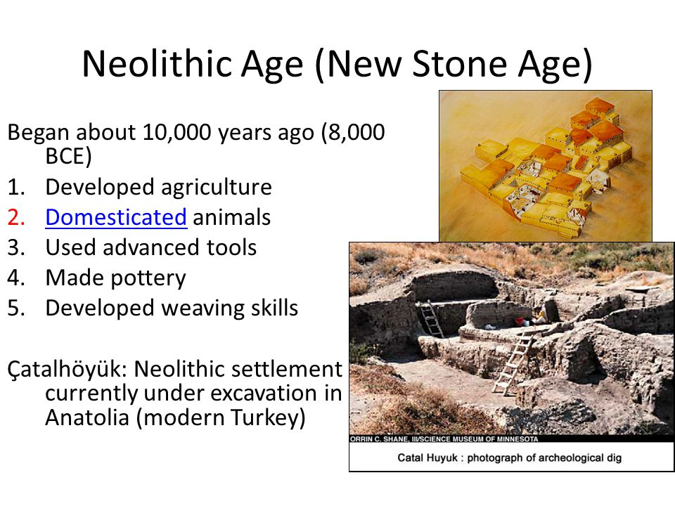 essay on neolithic age What's the difference between neolithic and paleolithic the paleolithic era (or old stone age) is a period of prehistory from about 26 million years ago to around.
