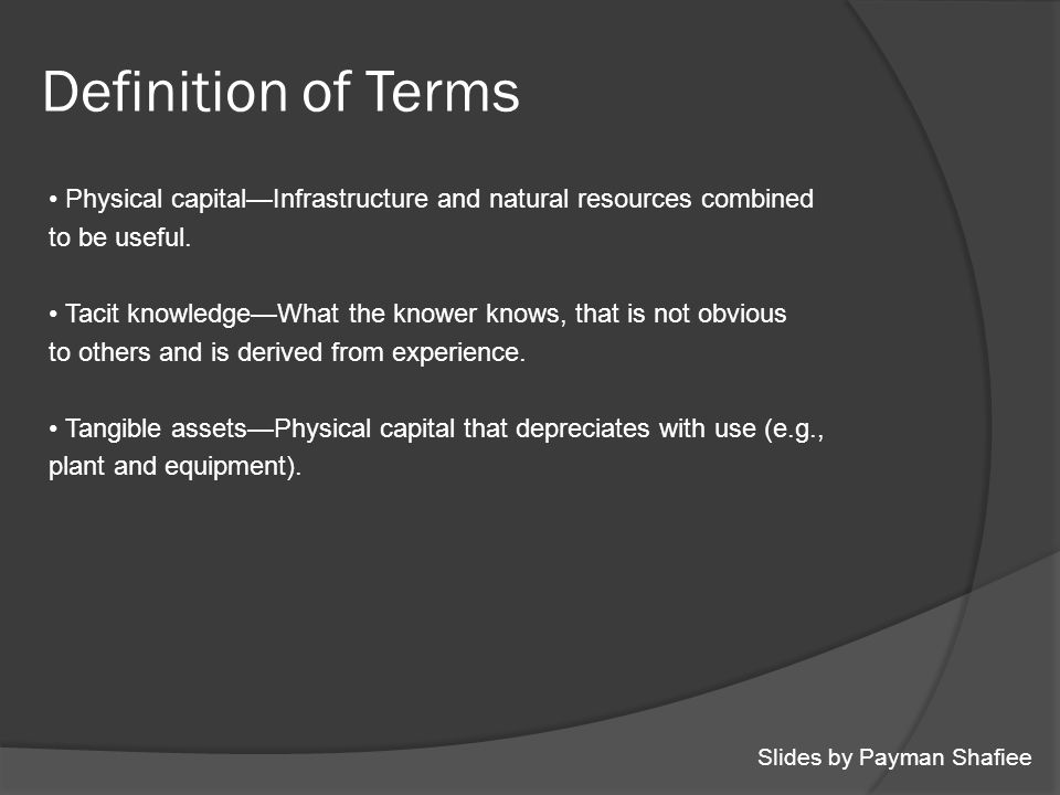 What Is Physical Capital Definition And Meaning Physical
