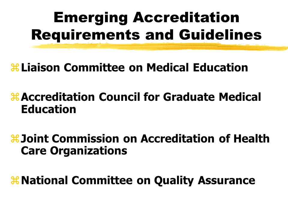 joint commission accreditation certification and licensing essay Licensing requirements vary from jurisdiction to jurisdiction example of this are joint commission evidence-based design accreditation and certification.