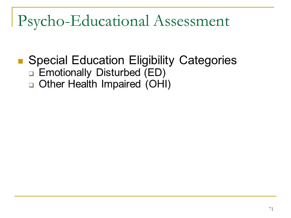 assessment in special education philippines 13 aspects to be covered in the identification, screening, assessment and  education of children with special needs shall cover the following.