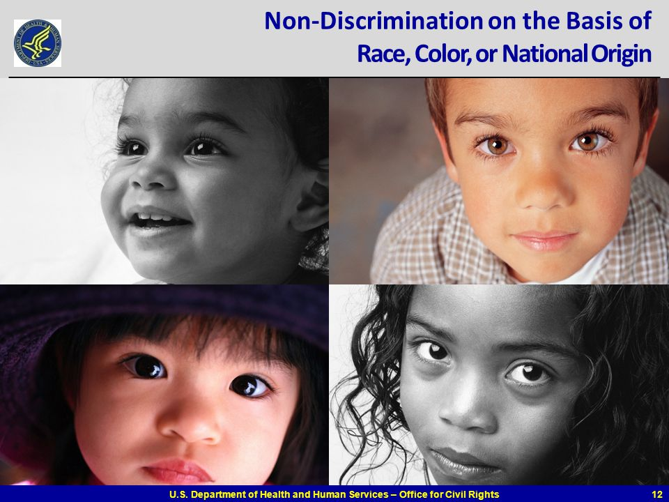Non-Discrimination on the Basis of Race, Color, or National Origin
