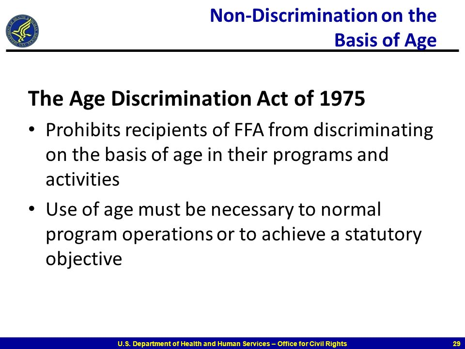 Non-Discrimination on the Basis of Age