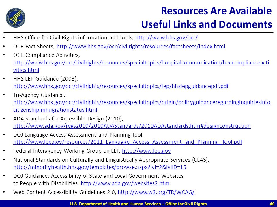 Resources Are Available Useful Links and Documents