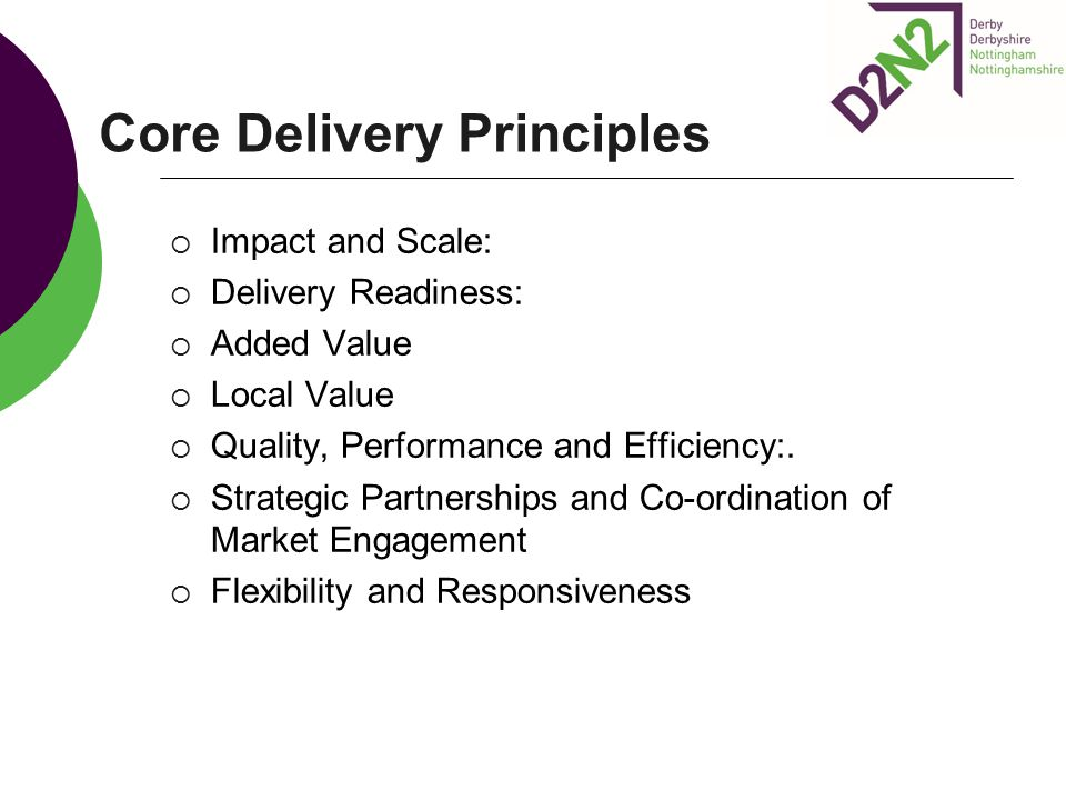 Core Delivery Principles