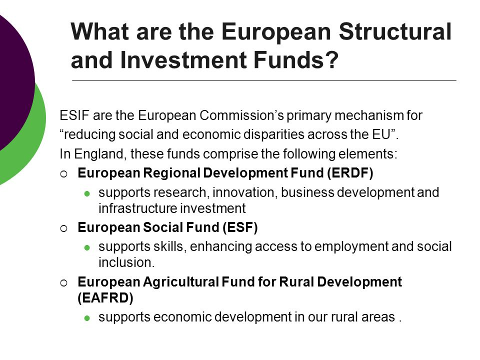What are the European Structural and Investment Funds