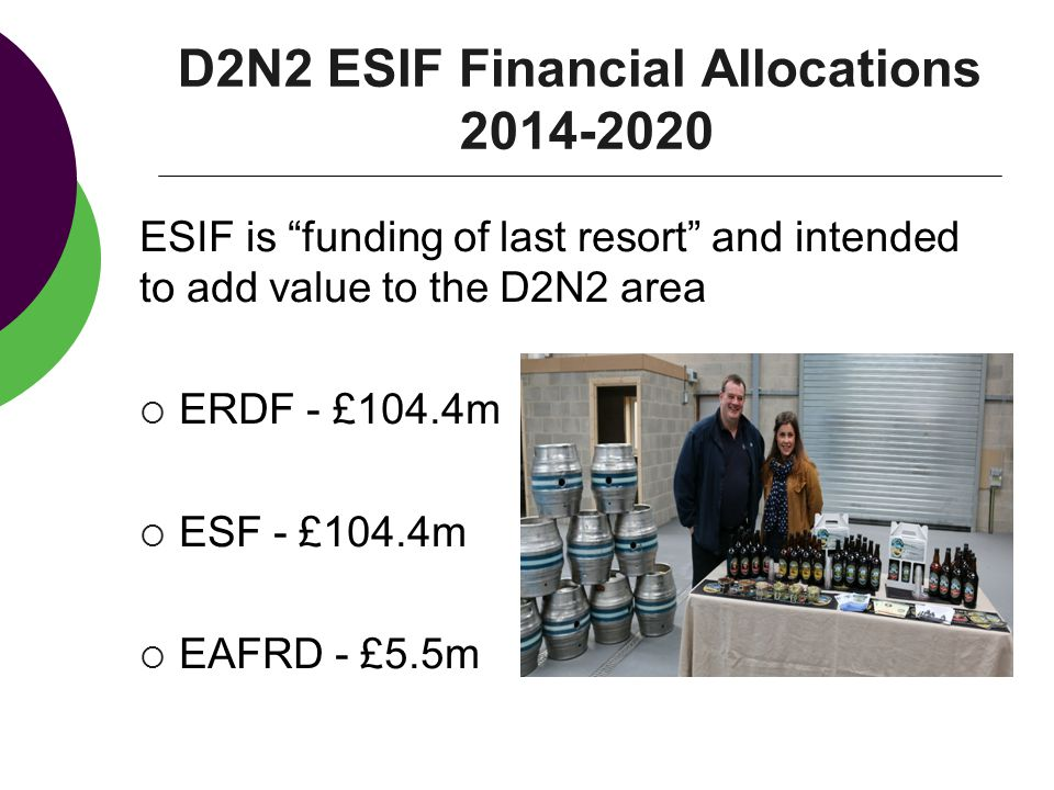 D2N2 ESIF Financial Allocations
