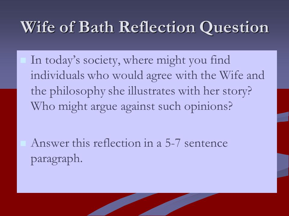 the wife of bath may mock