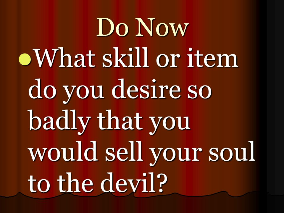 questions based on the devil and The devil and tom walker questions and irving's tale about a greedy man who sells his soul to the devil to become wealthy it is based on the german story.