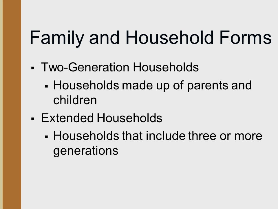 Family and Household Forms