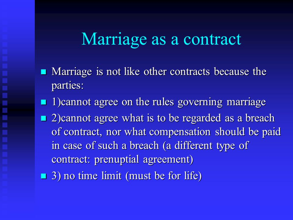 Marriage unit ppt video online download 18 marriage as a contract altavistaventures Choice Image