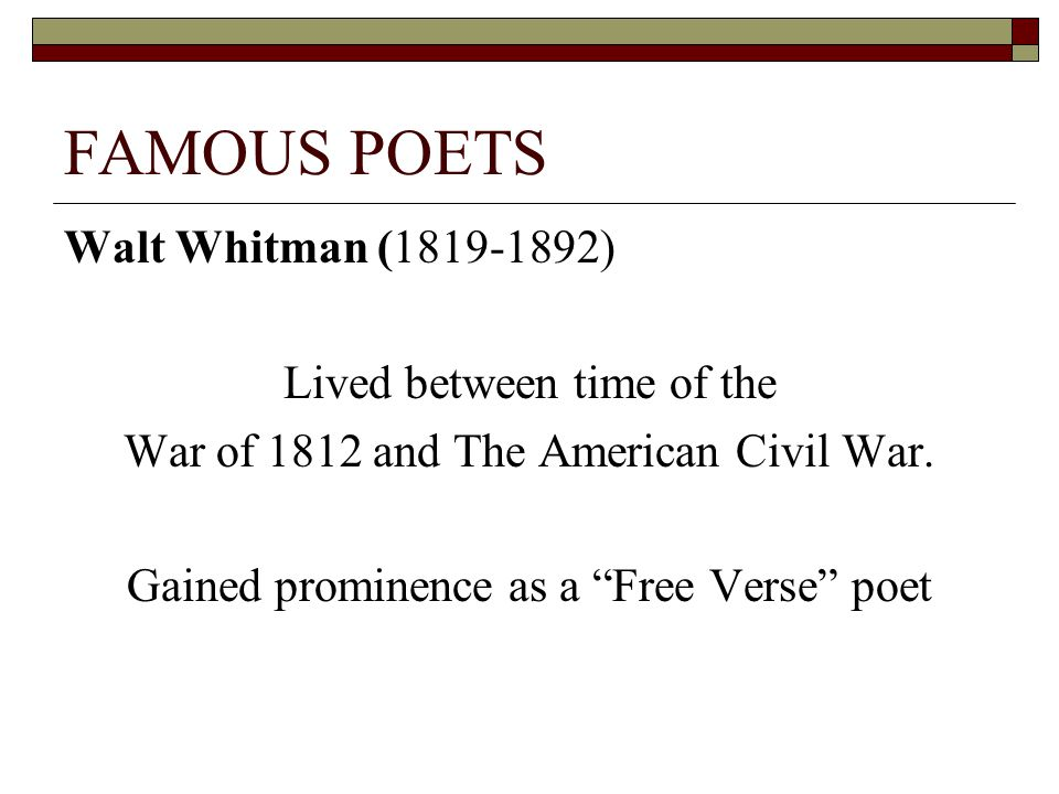 How Is Nature Presented In Whitman S Poems