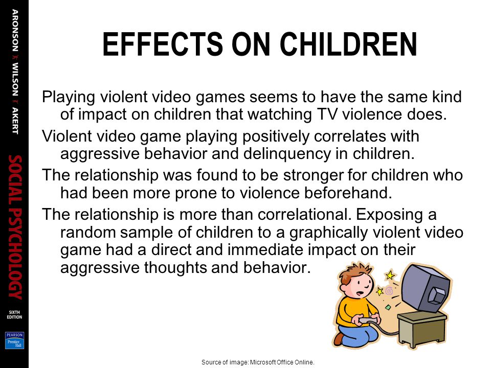 an examination of violence on television and its effects on aggressive behavior in children Viewing tv violence reduces inhibitions and leads to more aggressive behavior watching television violence can have long-term effects: a 15-year-long study by university of michigan researchers found that the link between childhood tv-violence viewing and aggressive and violent behavior persists into adulthood [21].