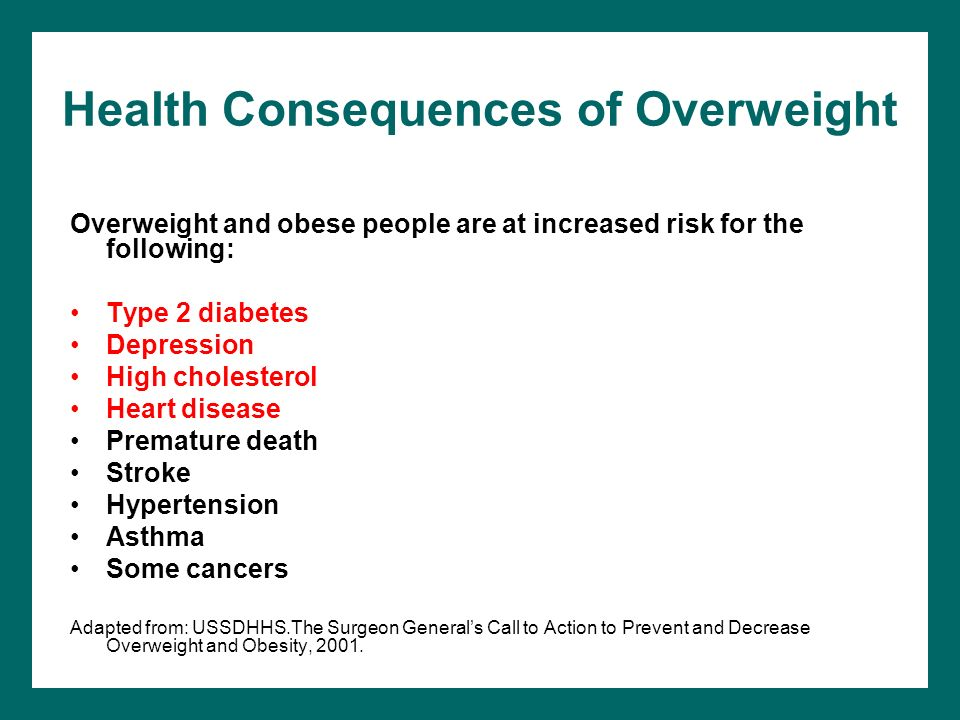 Health Consequences of Overweight