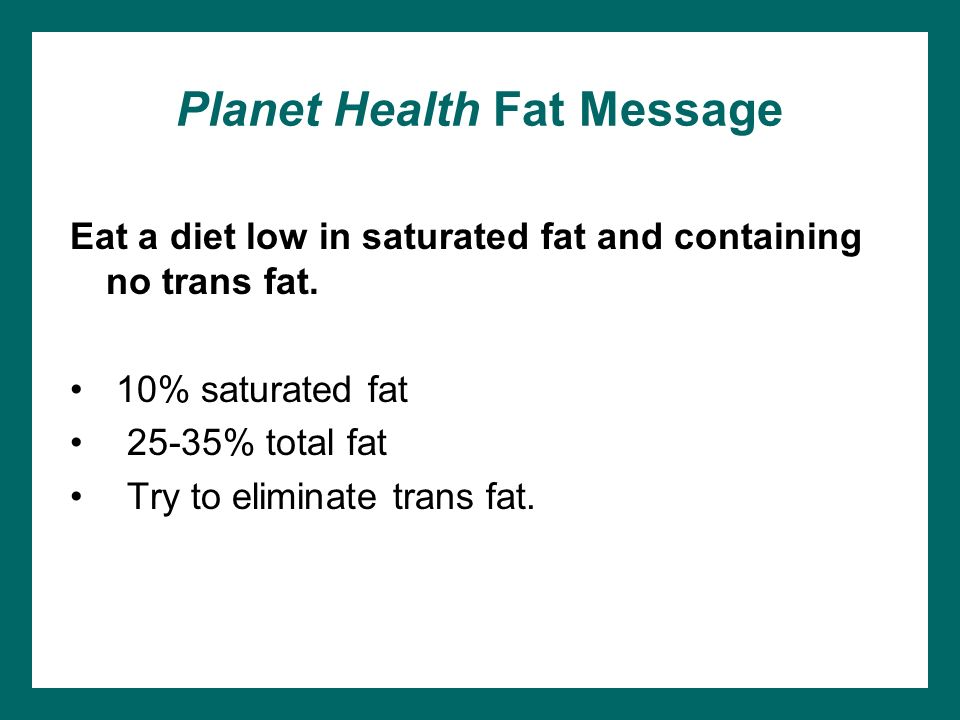 Planet Health Fat Message