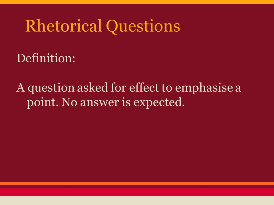 Asking rhetorical questions in essays