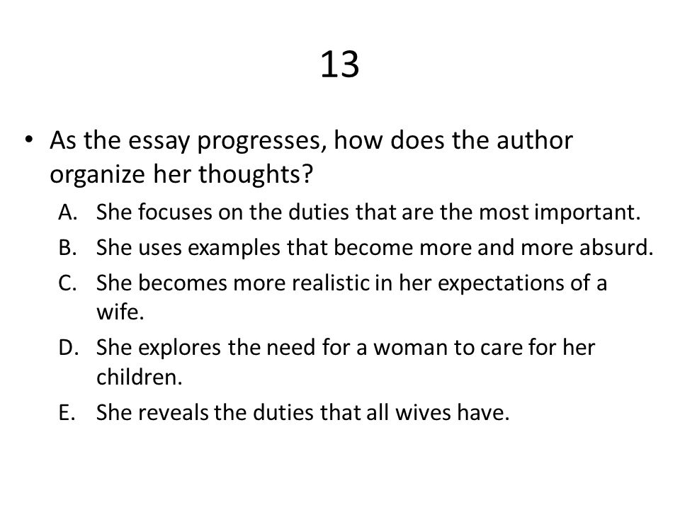 "i want a wife"" by judy brady ppt video online  13 as the essay progresses how does the author organize her thoughts"