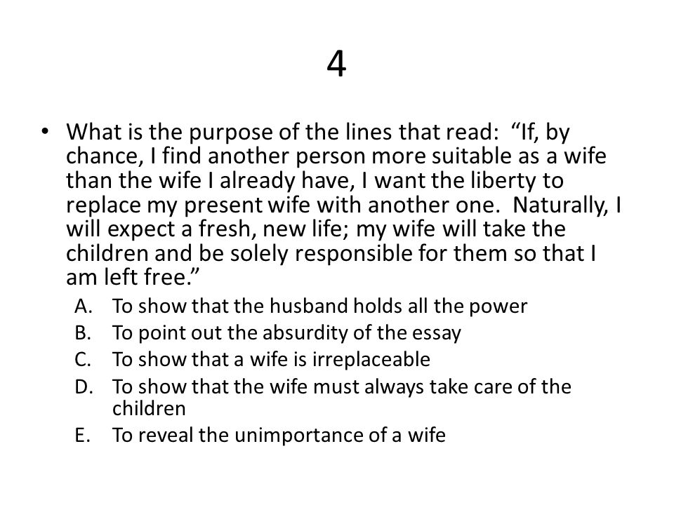 "i want a wife"" by judy brady ppt video online  5 4"