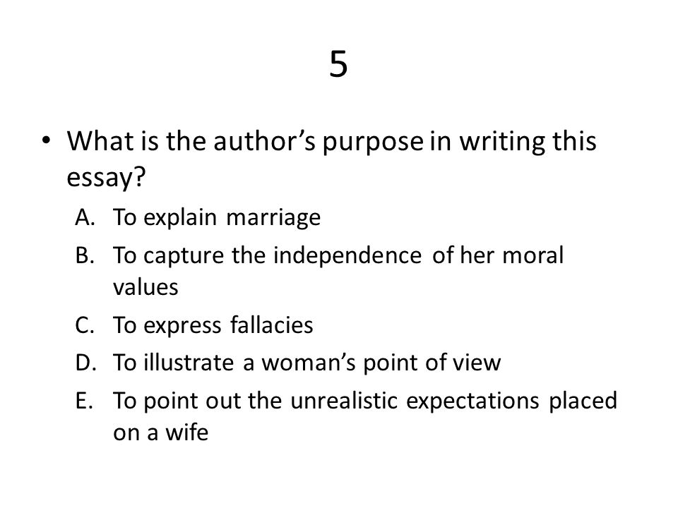 i want a wife rdquo by judy brady ppt video online 5 what is the author s purpose in writing this essay