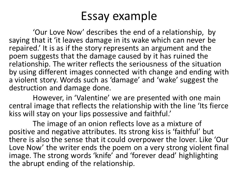 Narrative essay love