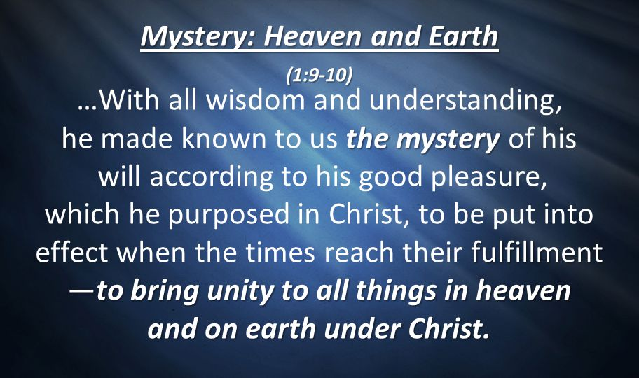 Mystery: Heaven and Earth
