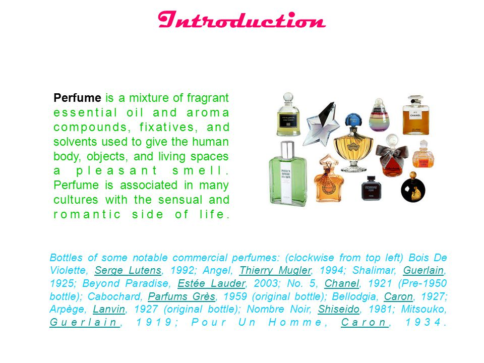 the perfume essay notes Advertisement - the power of perfume 3 pages 655 words june 2015 saved essays save your essays here so you can locate them quickly.