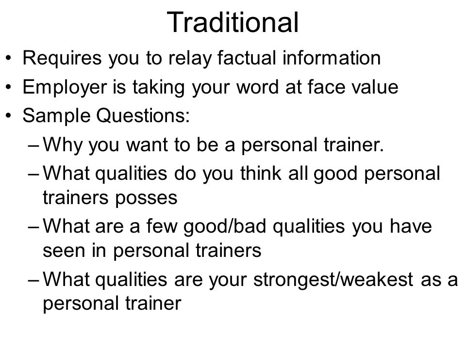 The Interview ppt download – Personal Trainer Interview Questions