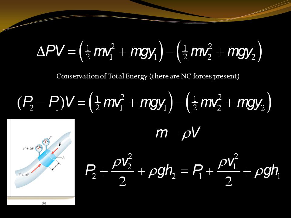 Conservation of Total Energy (there are NC forces present)
