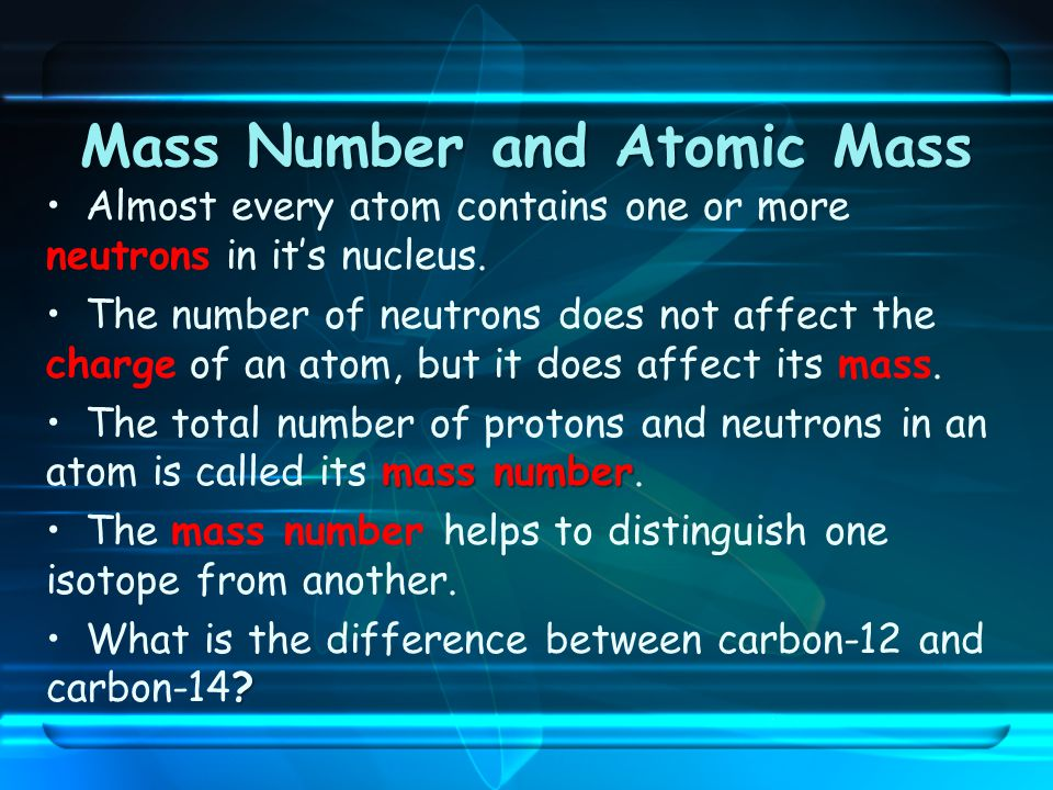 how to find the total mass of an atom