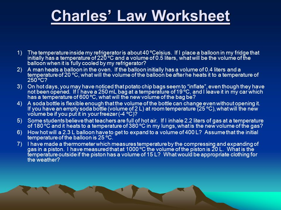 Charles law worksheet 2