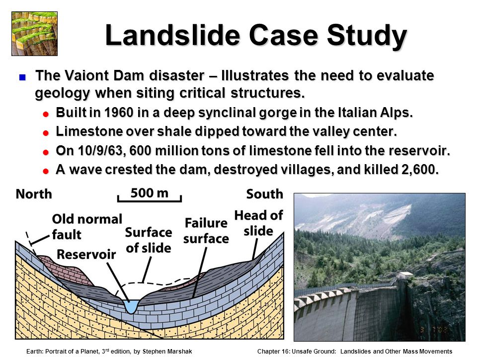 landslide case study Geographical information systems (gis) are powerful for spatial analysis, and the  analytic  landslide hazard assessment based on gis: a case study of a.