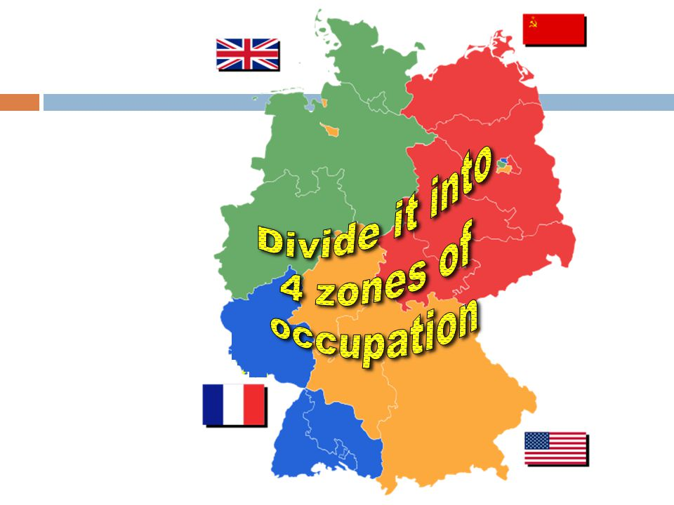Divide it into 4 zones of occupation