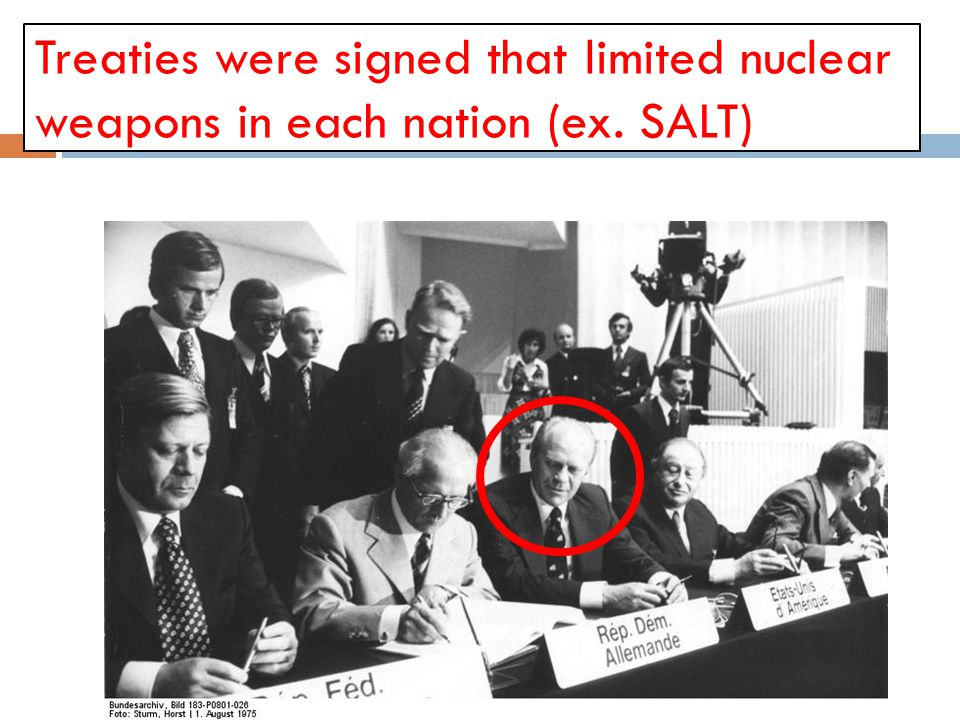 Treaties were signed that limited nuclear weapons in each nation (ex
