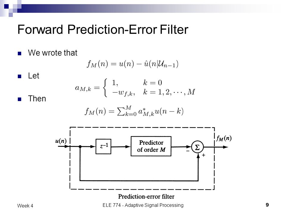 Forward Prediction-Error Filter