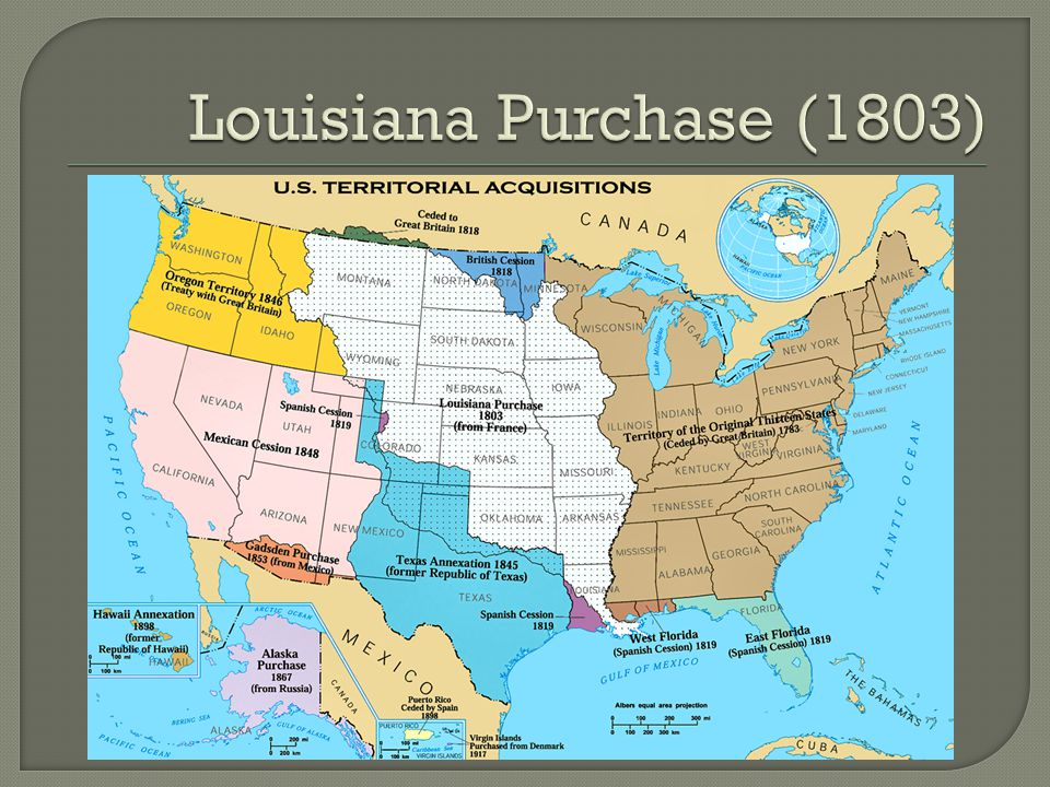 How did the Louisiana Purchase contribute to the civil war?
