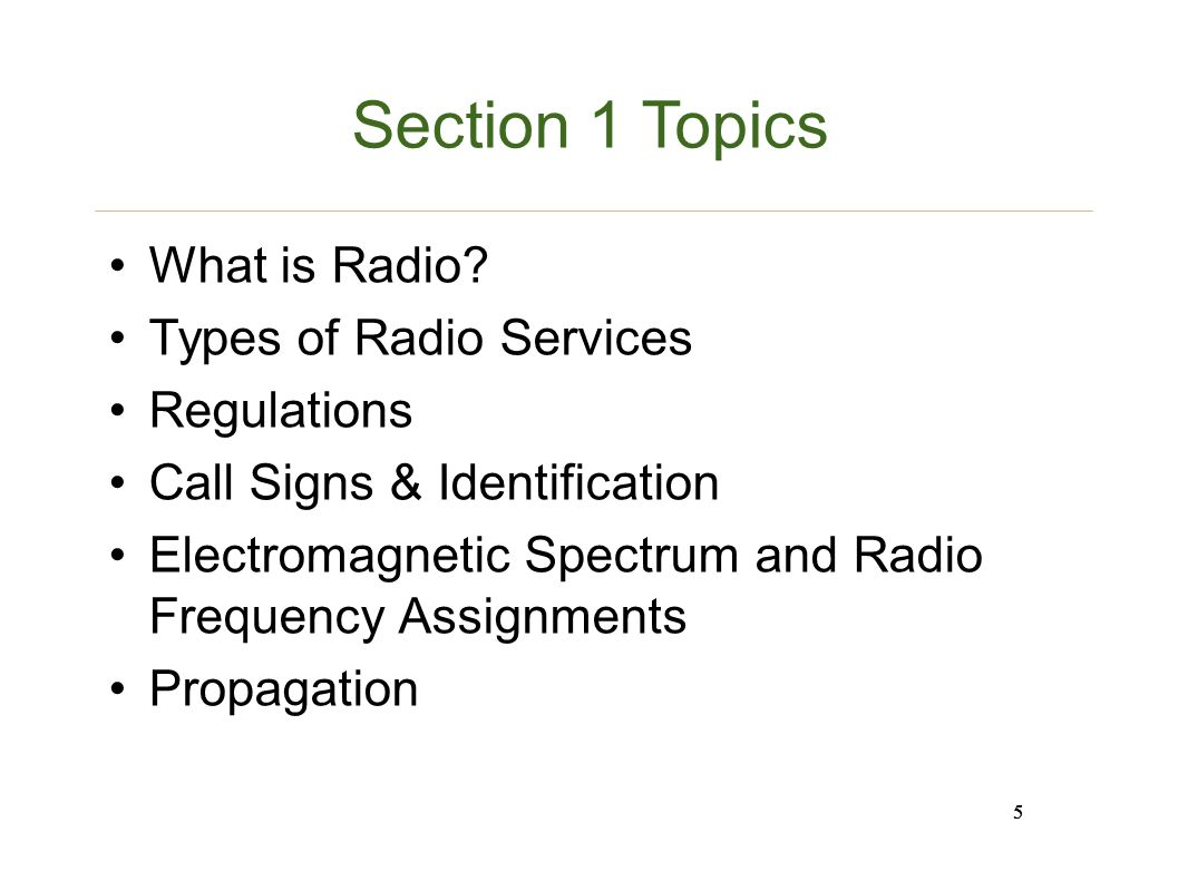5 Section ...