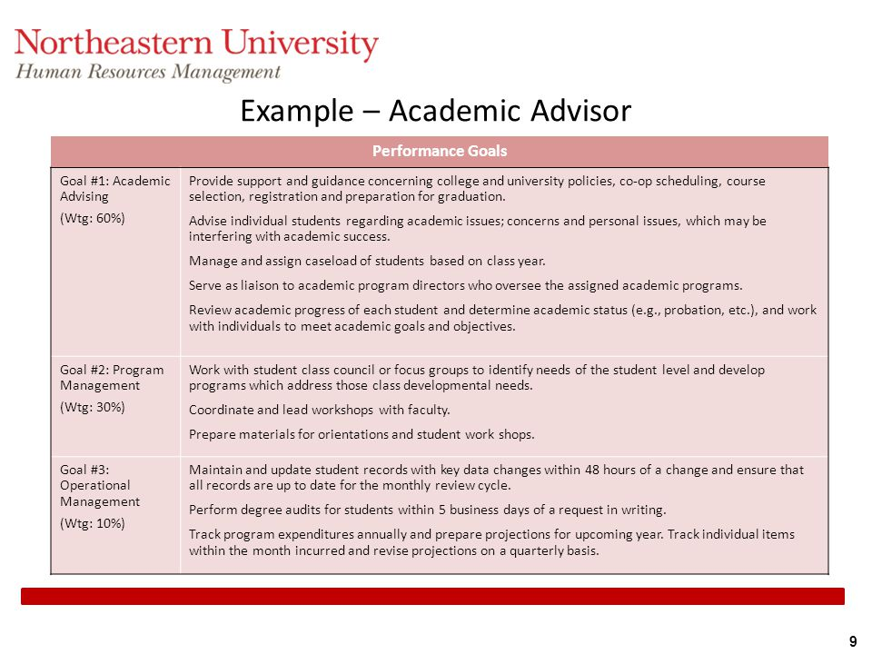 Example – Academic Advisor
