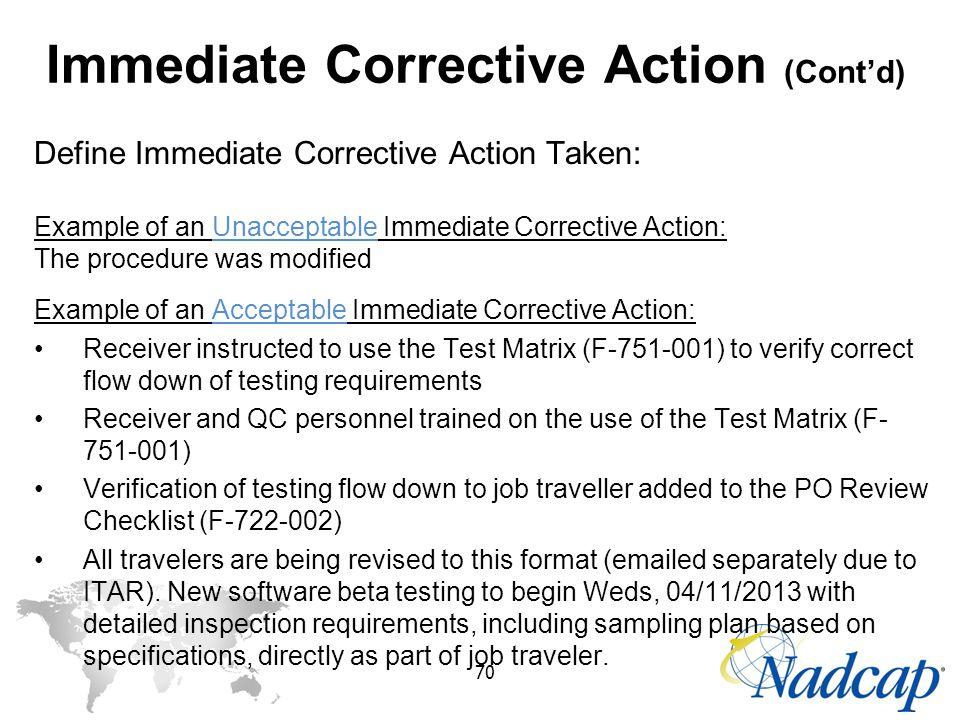 how to write a corrective action taken