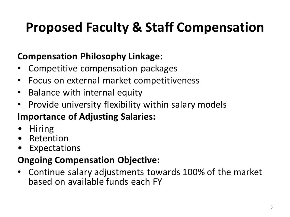 Proposed Faculty & Staff Compensation
