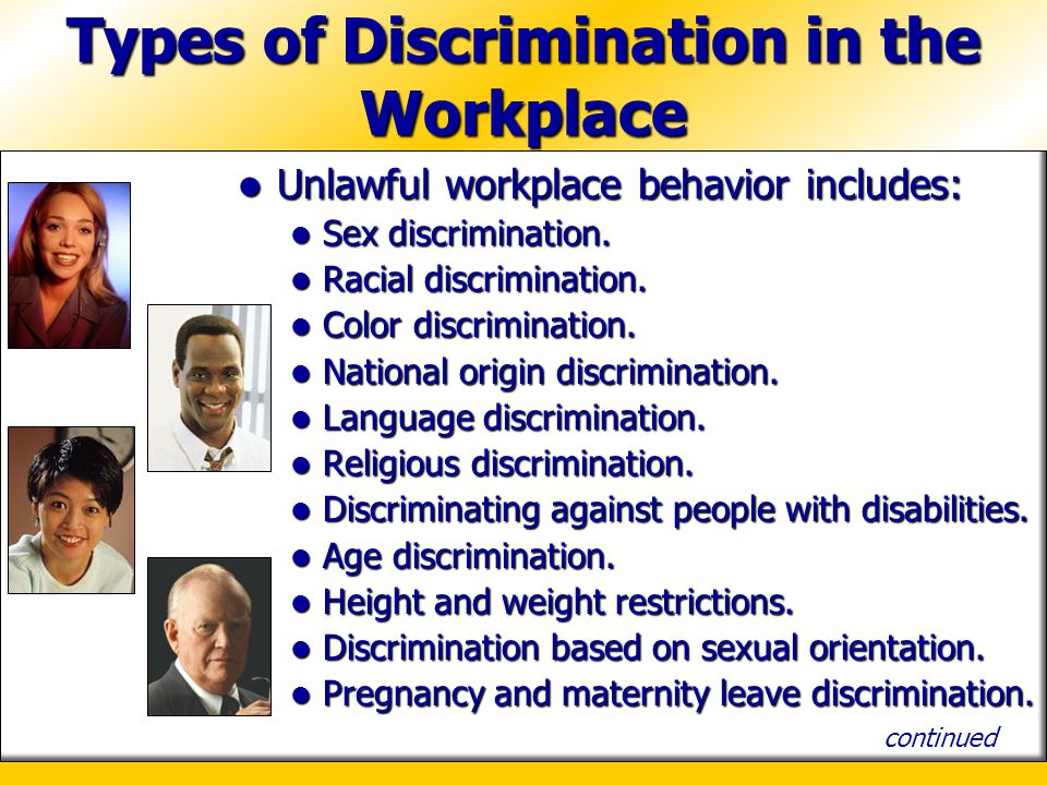 eliminating discrimination in the workplace essay More essay examples on gender rubric subject: gender discrimination in the labor market 1 - eliminate gender discrimination in the workplace introduction knowing that most of the countries face gender discrimination today, the main problem of the ilo is to stop it, 2.