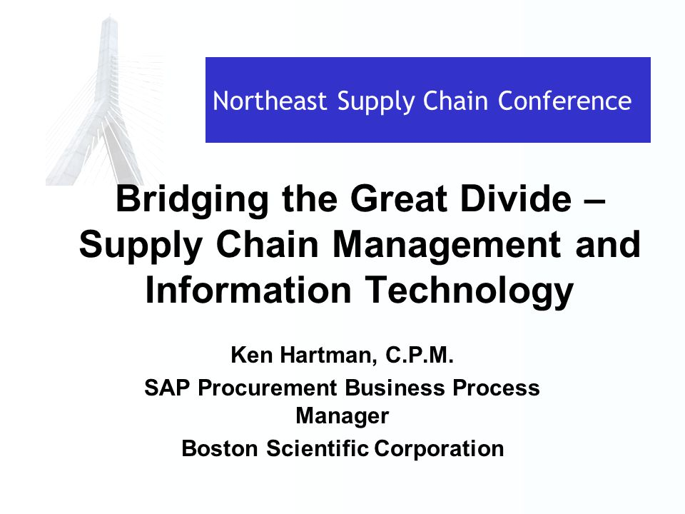 Using technology to improve supply chain management