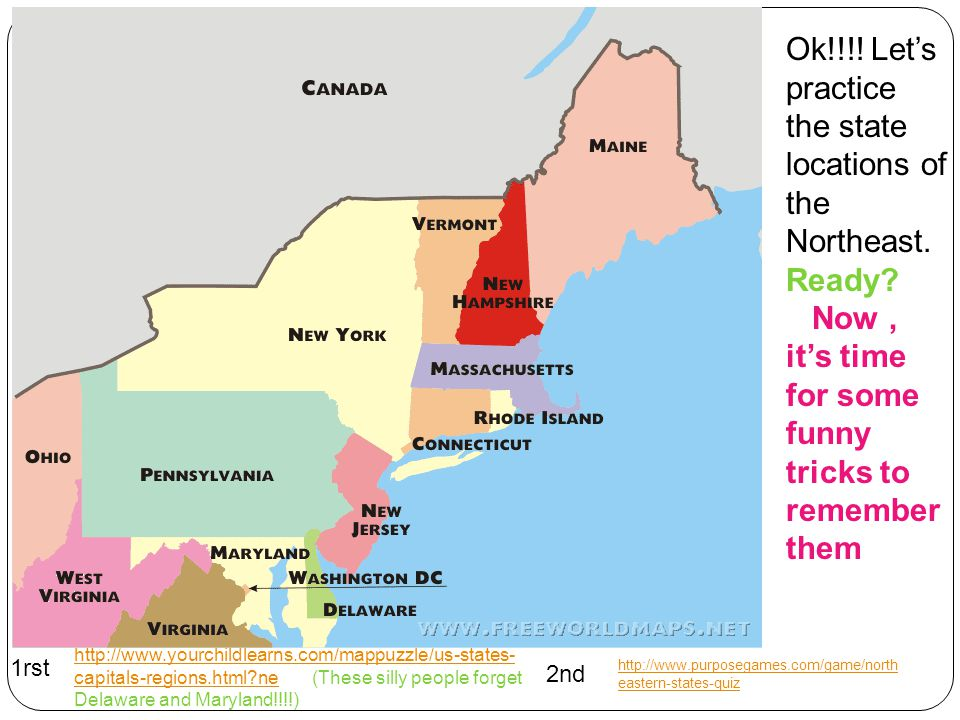 Regions Of The US Maps Labeled Maps And Blank Map Quizzes By - Us northeast region map quiz