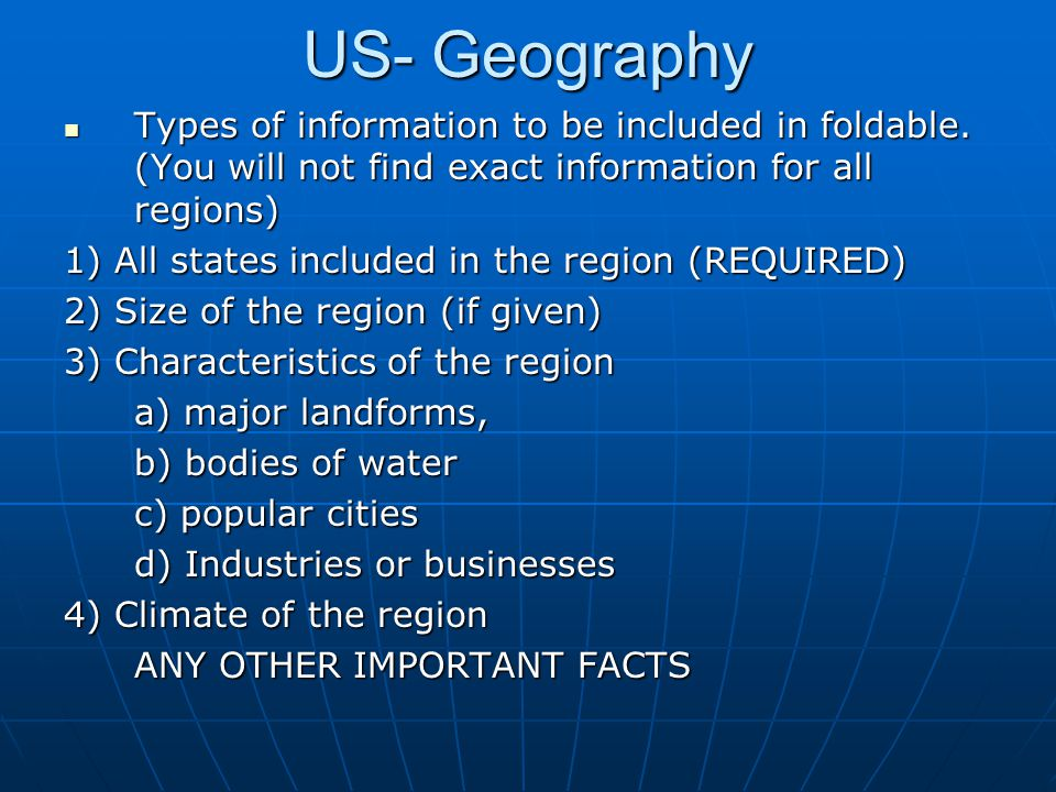 united states lesson 1 geography ppt