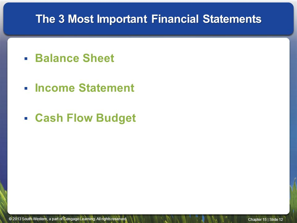 The 3 Most Important Financial Statements