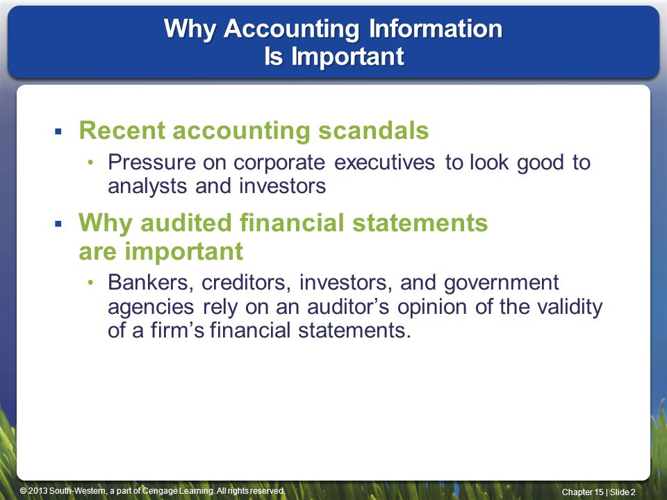 Why Accounting Information Is Important