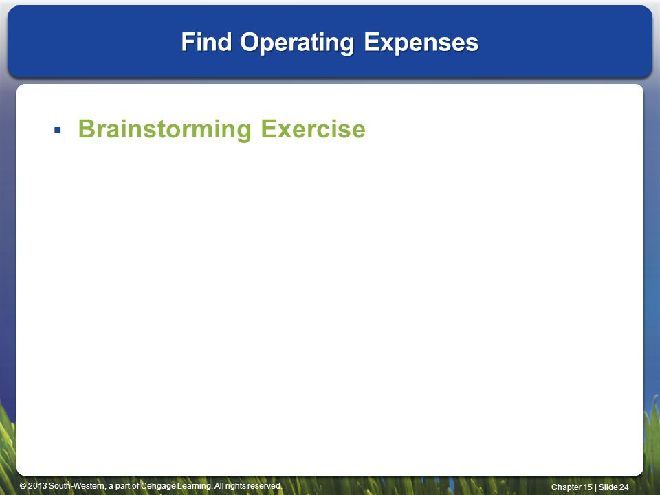 Find Operating Expenses