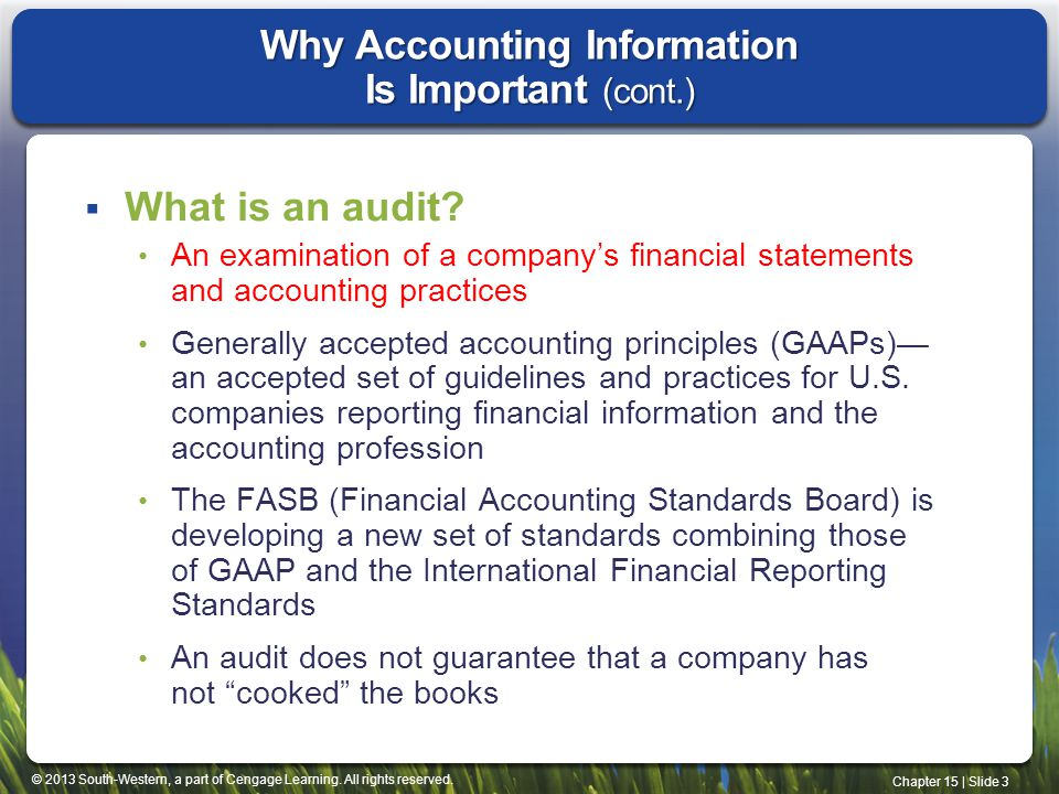 Why Accounting Information Is Important (cont.)
