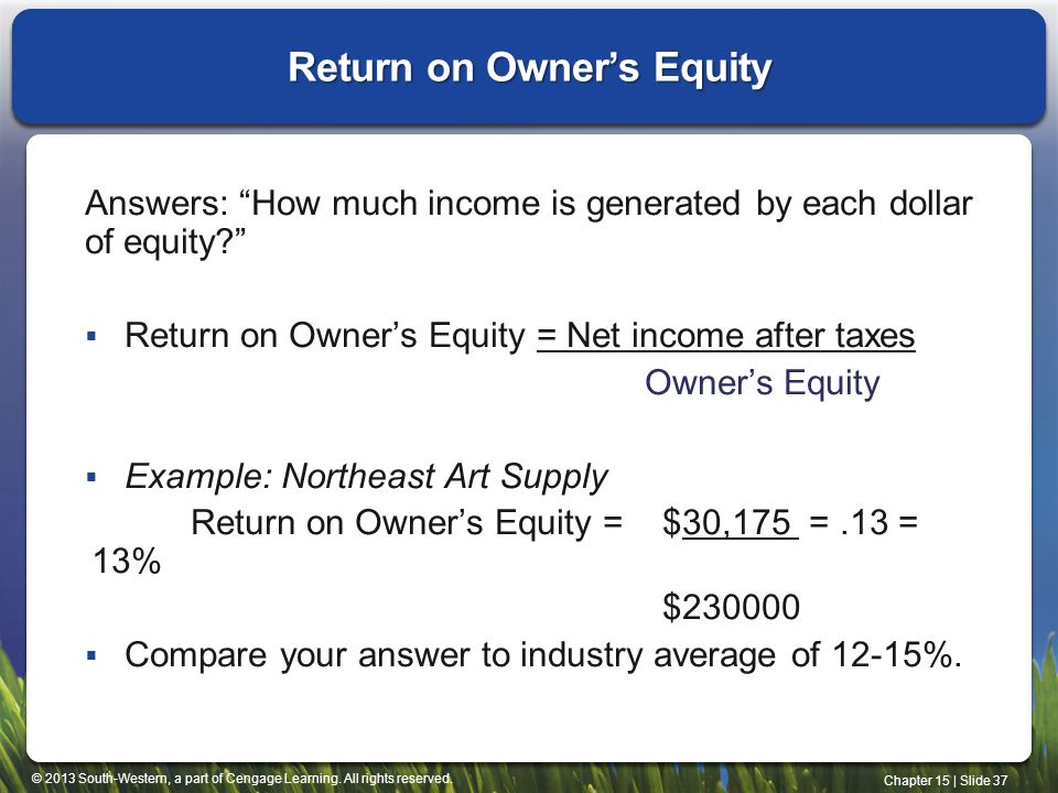 Return on Owner's Equity