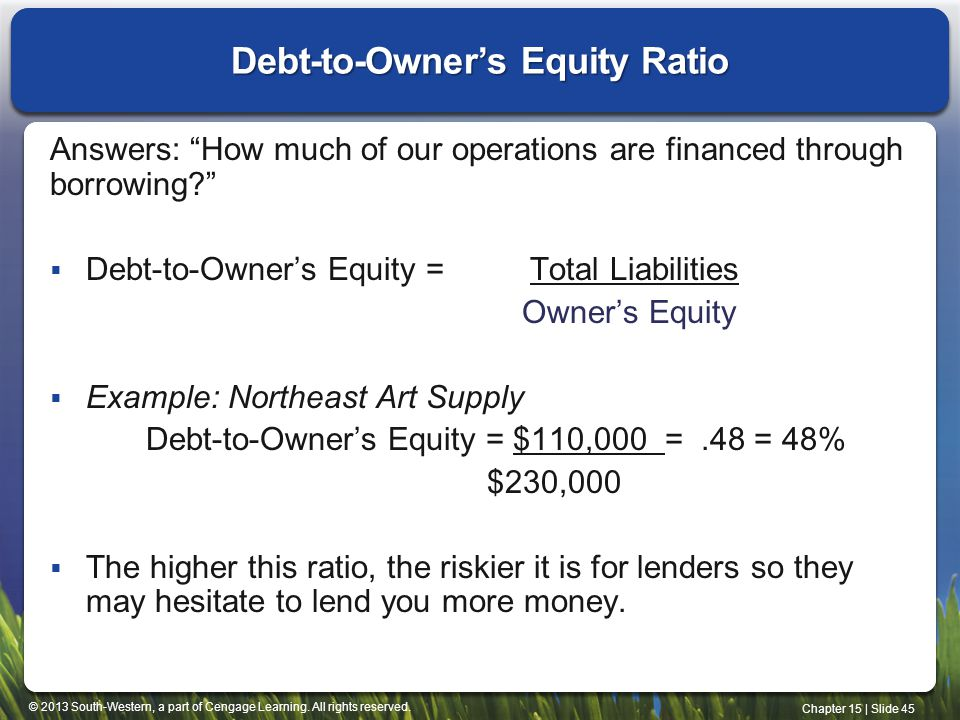 Debt-to-Owner's Equity Ratio