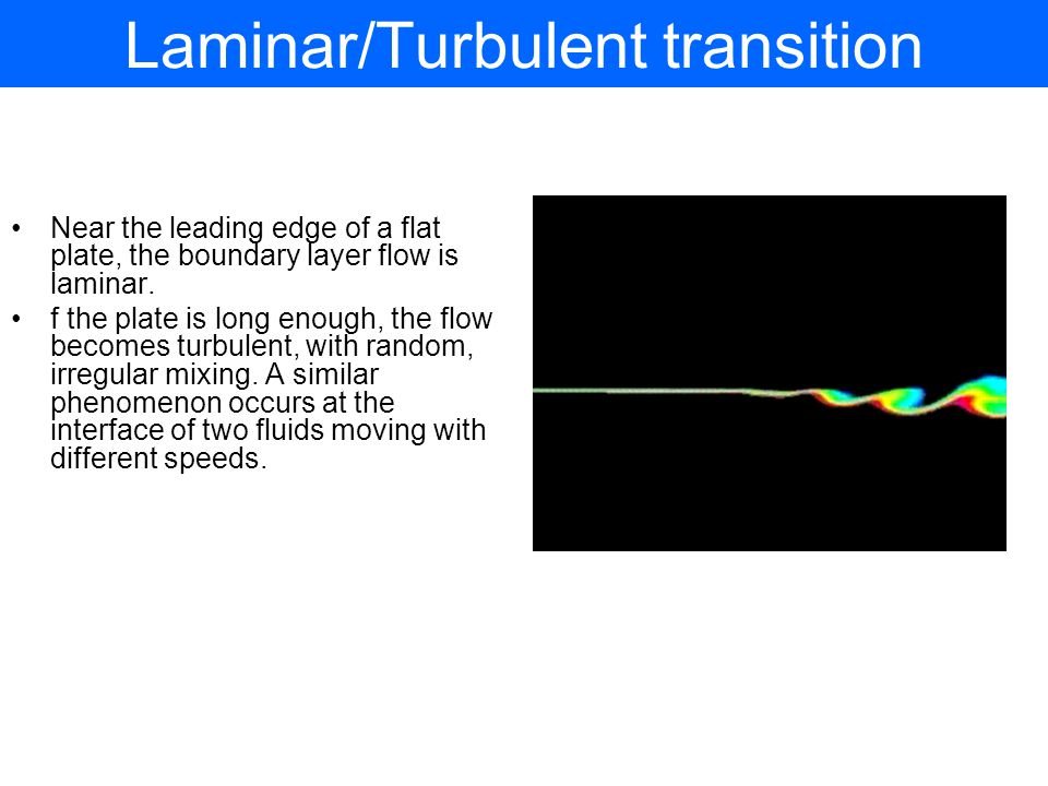 Laminar/Turbulent transition
